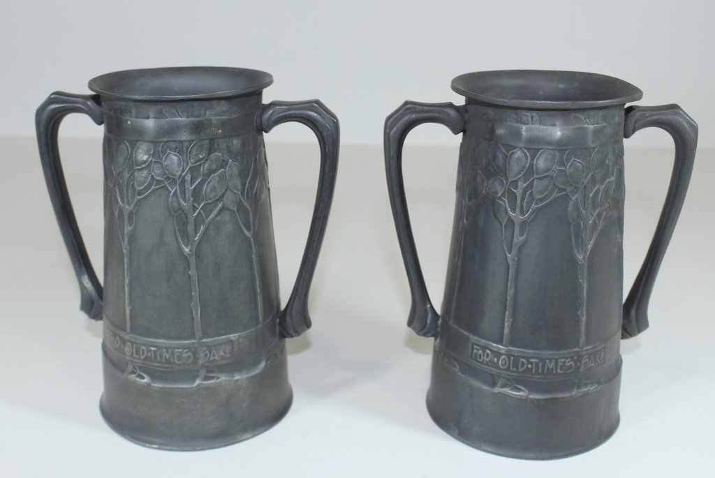 "Two Liberty &  Co. ""Tudric"" Pewter Vessels"