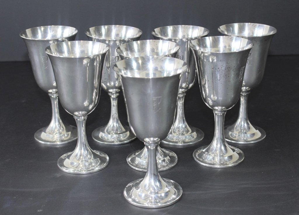 International Sterling Goblets