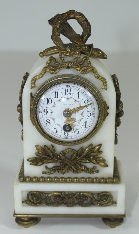 Miniature French Marble Clock