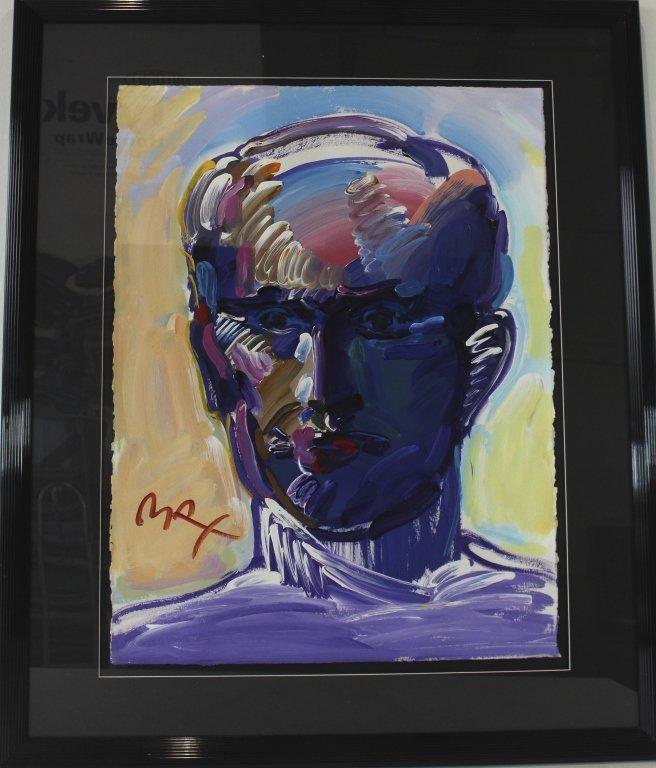 Peter Max, Portrait of Man