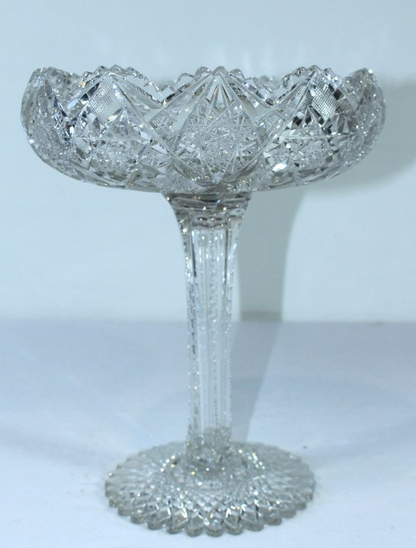 American Brilliant Period Cut Glass Compote