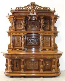 Monumental German Castle Court Cabinet