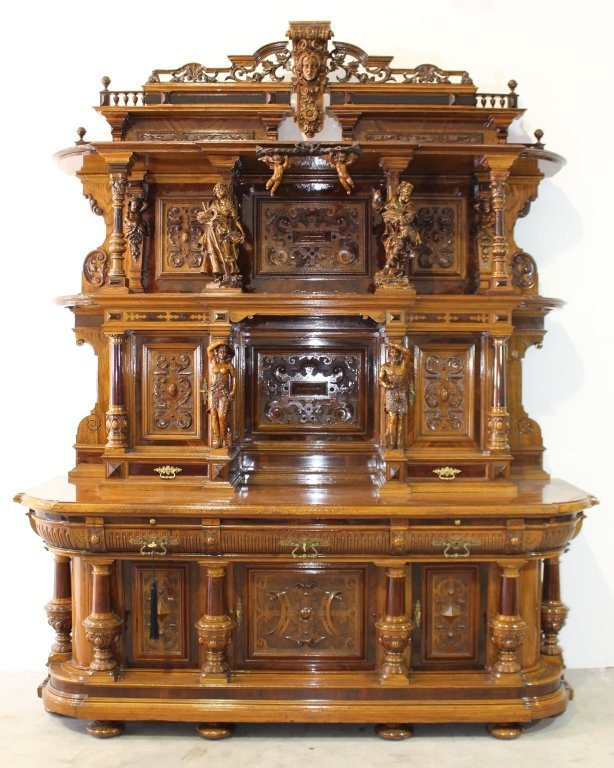 Monumental German Castle Court Cabinet