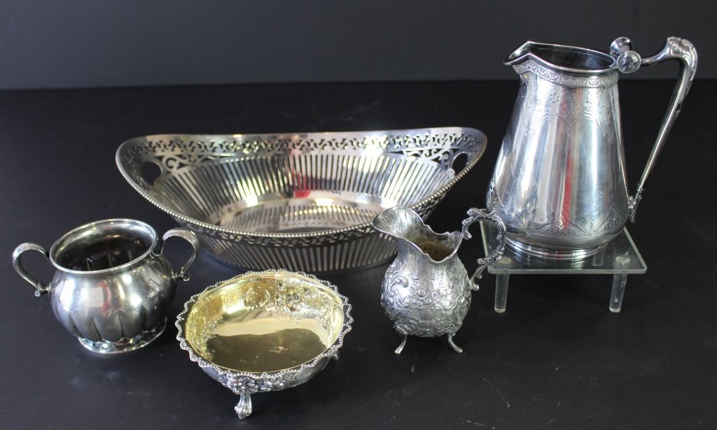 Five Piece Sterling Silver Group