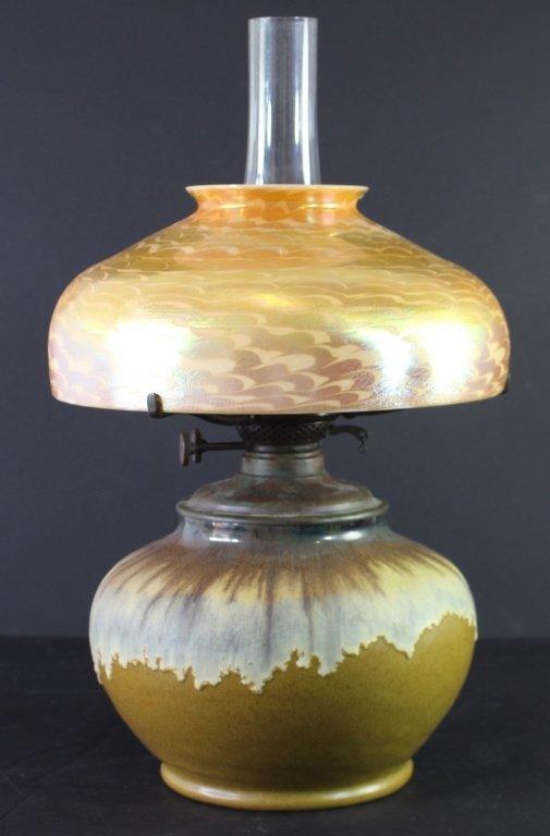 L. C. Tiffany Shade & Fulper Lamp