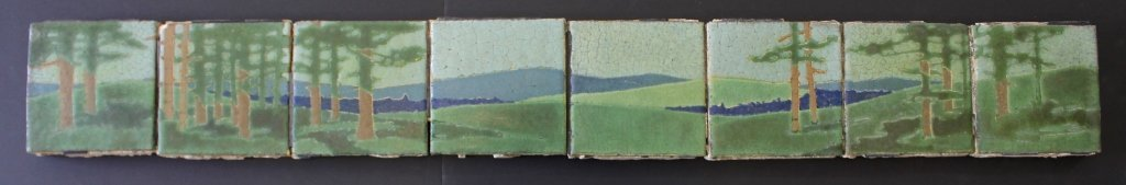 "Grueby Pottery 8 - Tile Frieze ""The Pines"""