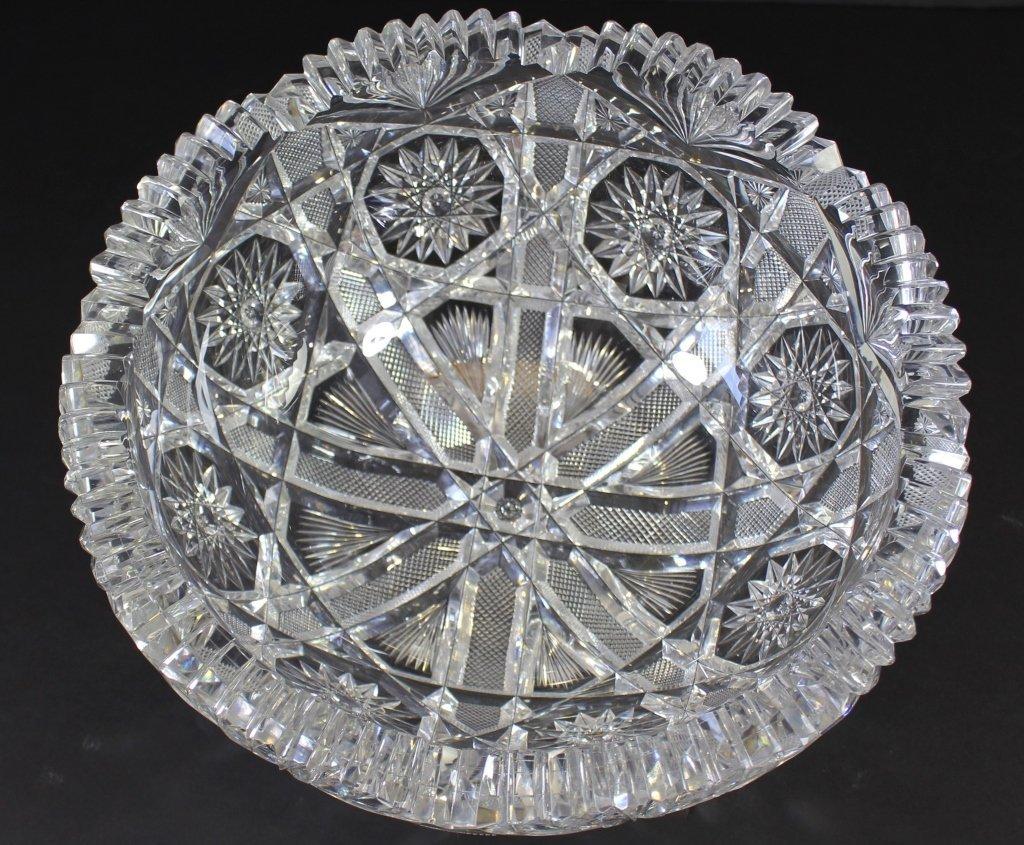 Rare Brilliant Period Cut Glass Bowl
