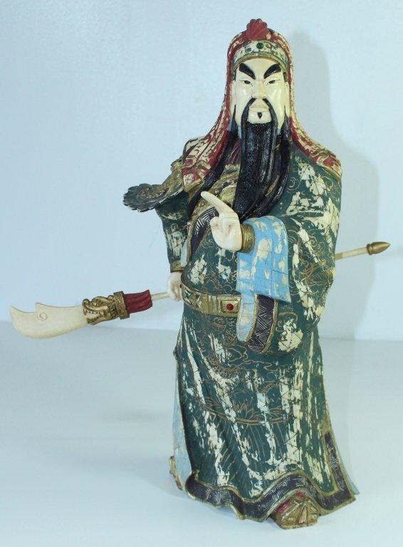 Japanese Bone Sculpture of Warrior
