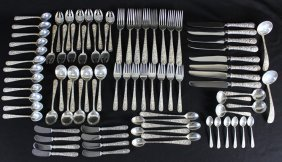 "Group Of Kirk ""repousse"" Sterling Flatware"