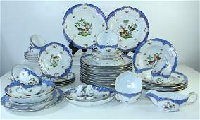 Herend Porcelain Rothschild Bird Blue Border