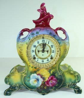 Royal Bonn/ansonia Porcelain Mantle Clock