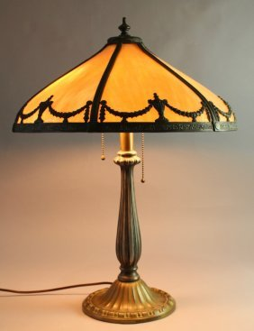 Bradley & Hubbard Bent Panel Lamp