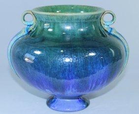 "Fulper Pottery 7.5"" Blue Flambe Vase"