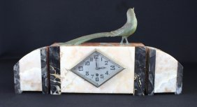 French Art Deco Three Piece Clock Set