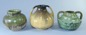 Group Of Three Fulper Pottery Pieces