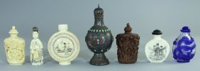 Group Of Chinese And Asian Snuff Bottles (7)