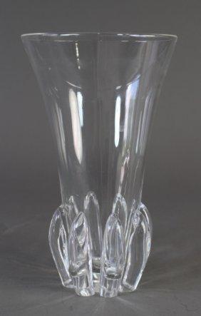 Steuben Crystal Modernist Vase