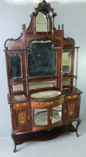 Fine And Important Sideboard With Marquetry Inlay