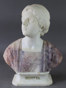 "Italian Marble Bust ""guiditta"""