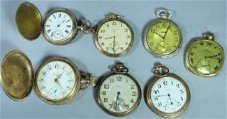 Seven 14K Gold Filled Pocket Watches