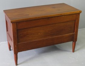 Country Primitive Walnut Blanket Chest
