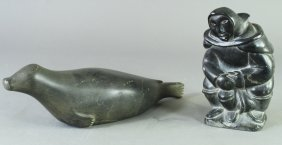 Two Inuit Stone Carvings