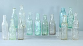 Collection Of 13 Early Soda Bottles