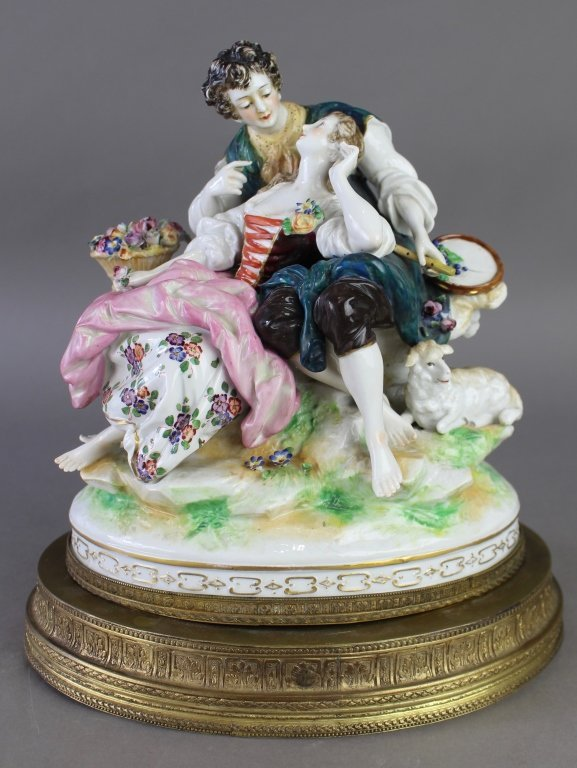 Ludwigsburg Porcelain Figural Grouping