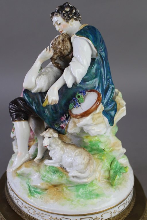 Ludwigsburg Porcelain Figural Grouping - 7