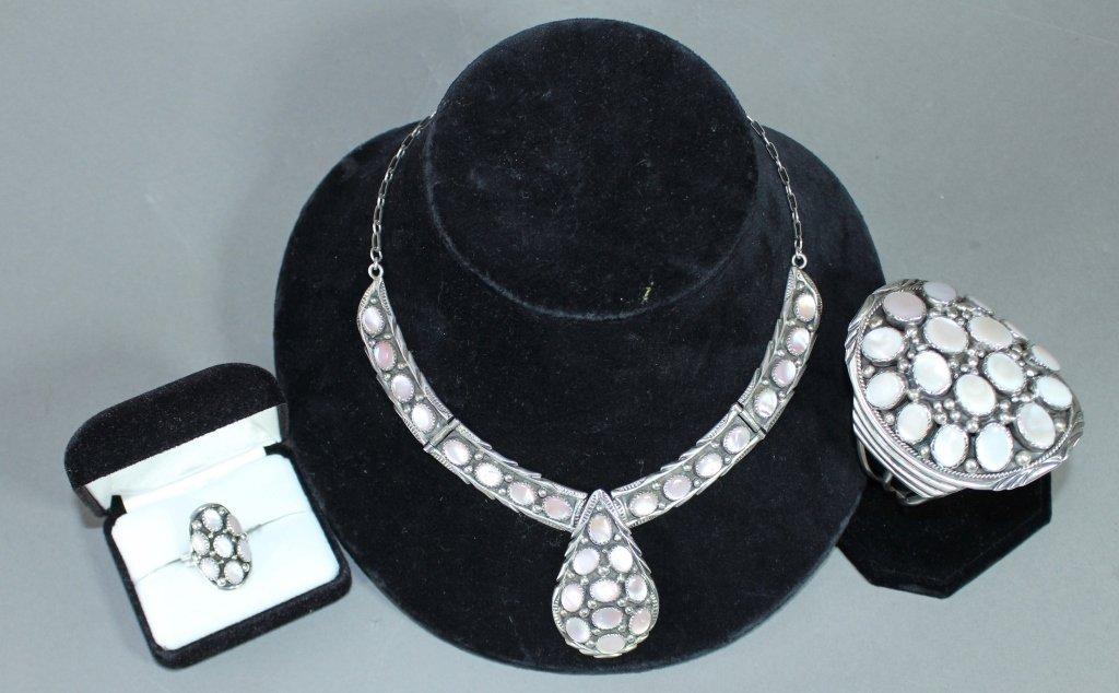 Three Piece Navajo Sterling Jewelry Set