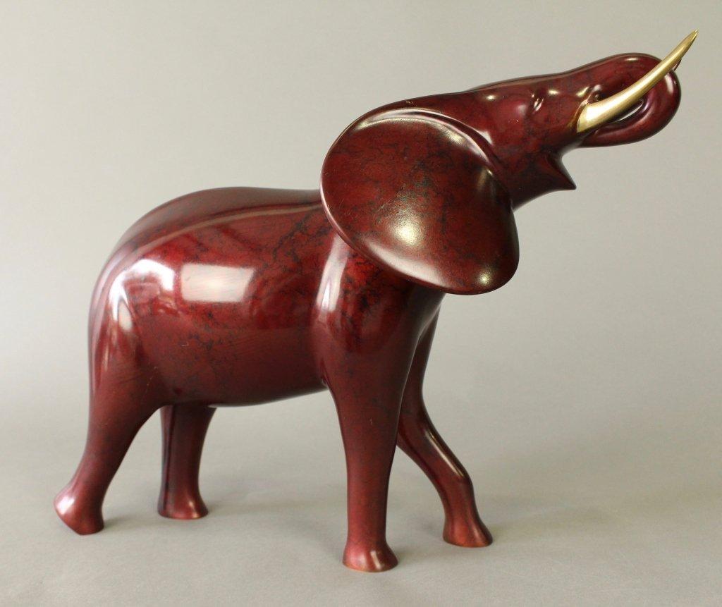 Loet Vanderveen Bronze Polychrome Elephant