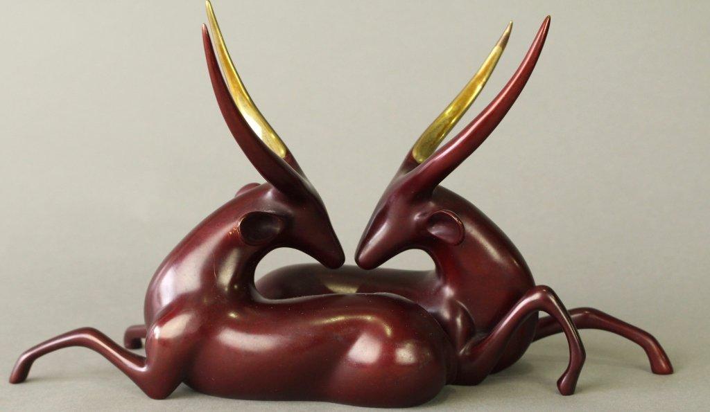 Loet Vanderveen Polychrome Bronze of Oryx