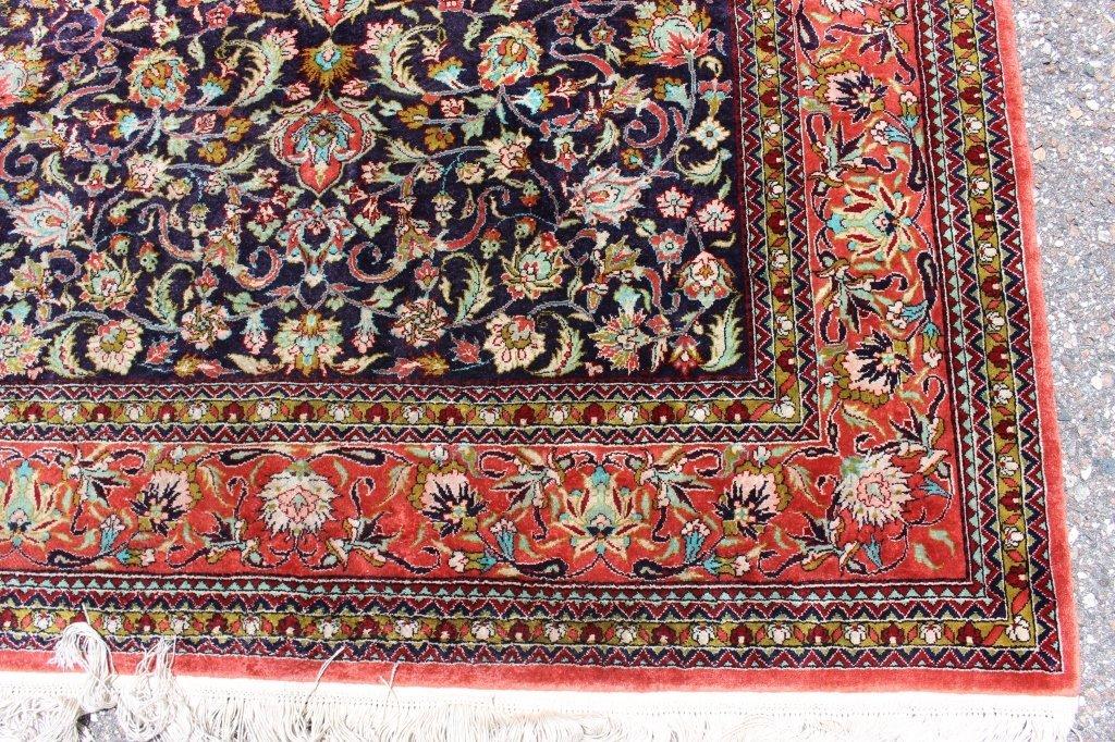 Fine Silk Turkish Area Rug, 3.7' x 5.2'. - 3