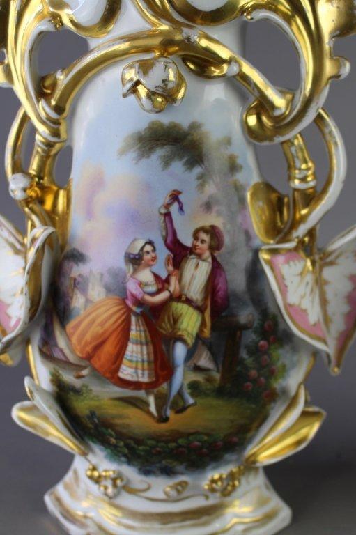 Pair of Old Paris Porcelain Vases - 2