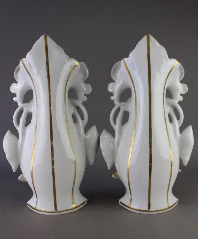 Pair of Old Paris Porcelain Vases - 6