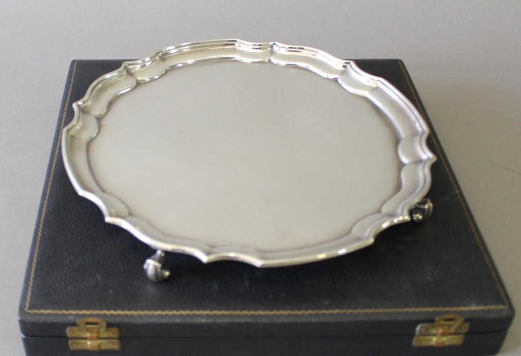 English Sterling Silver Salver - 6