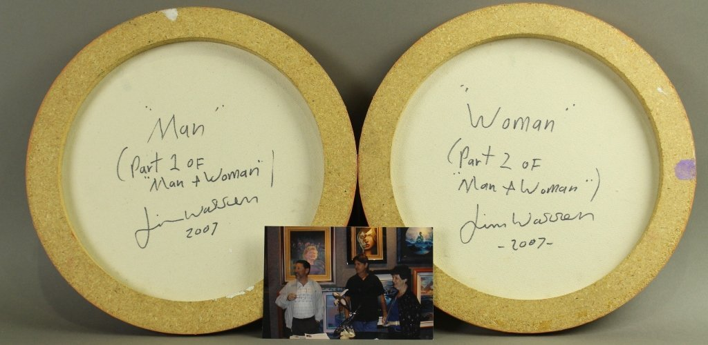 "Two Jim Warren, Originals ""Man"" and ""Woman"" - 2"