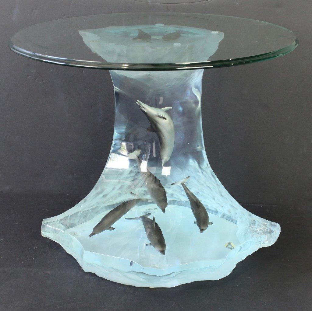 Robert Wyland Dolphin Table