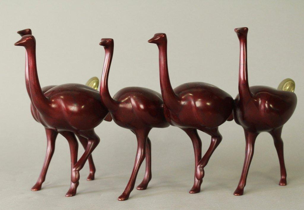 Loet Vanderveen Bronze Running Ostriches