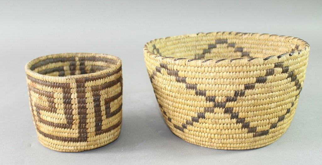 Collection of Eight Native American Baskets - 7