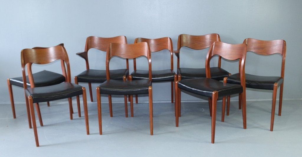 Mid Century Modern Dining Table & Chairs - 5