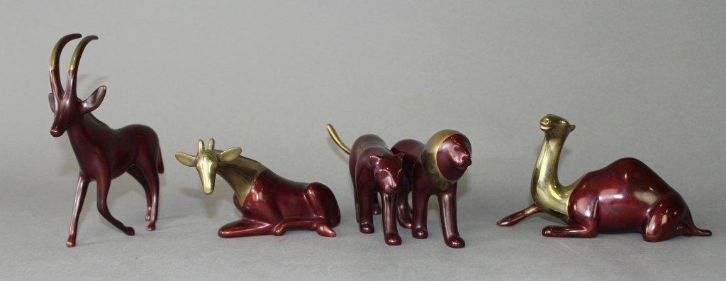 Four Loet Vanderveen Bronze Animals - 2