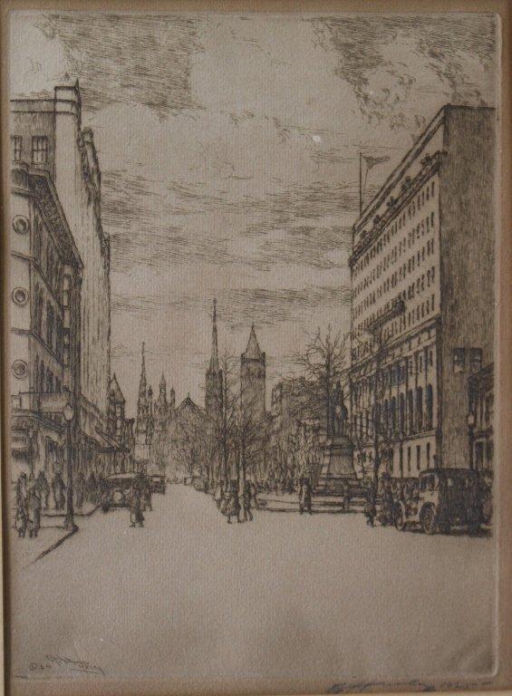 Edward T. Hurley Etching, C. 1925 - 2