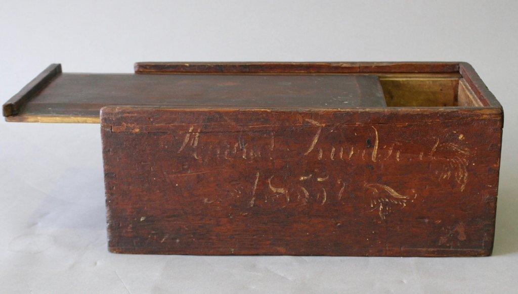 Primitive Folk Art Candle Storage Box - 4