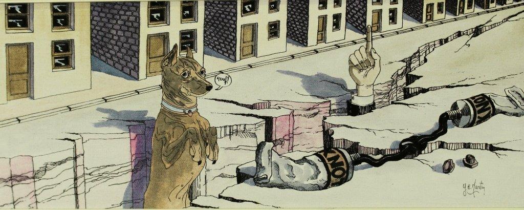 """Y. B. Martin, Original on Canvas """"Doggy"""" - 2"""