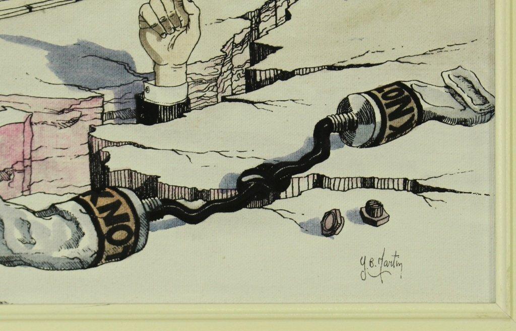 """Y. B. Martin, Original on Canvas """"Doggy"""" - 3"""