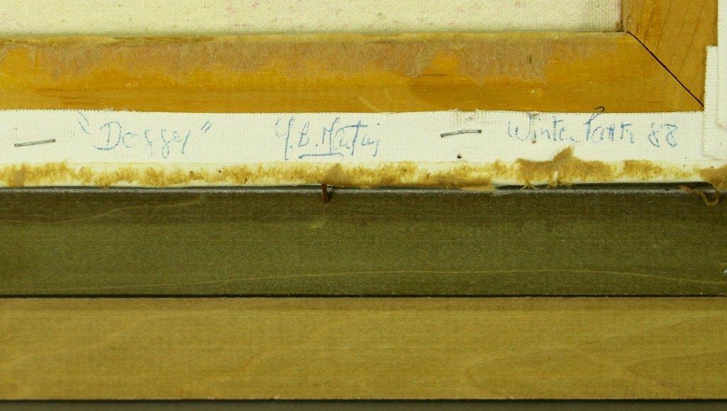 """Y. B. Martin, Original on Canvas """"Doggy"""" - 5"""