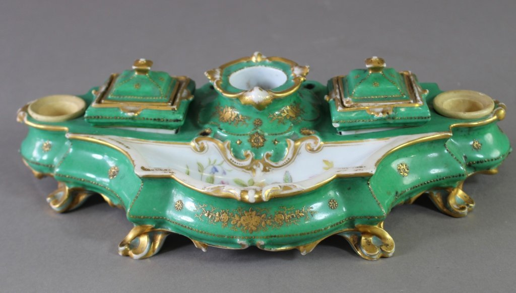 French Porcelain Inkstand