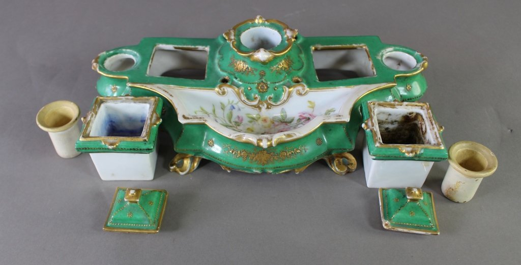 French Porcelain Inkstand - 3