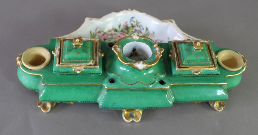 French Porcelain Inkstand - 5